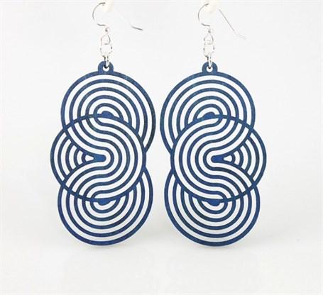 Earrings - Spirals In Spirals 1373