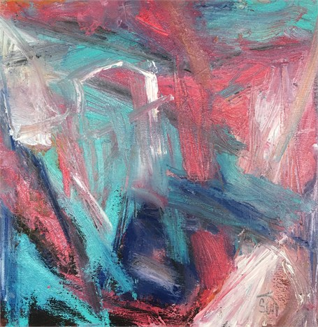 Abstract in Red and Blue I