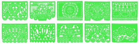 Papel Picado Banner - 18' Lime Green All Occasion Banner