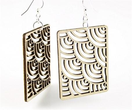 Earrings - Modern Square 1384
