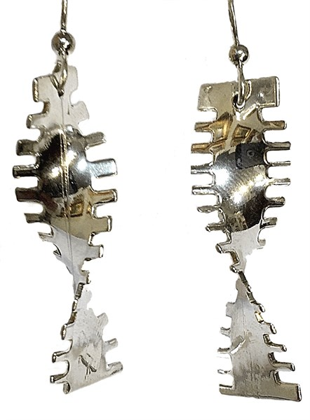 Earrings - Sterling Silver Action Single Twist E-504