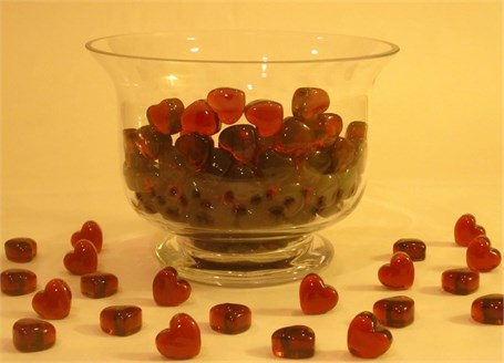 Glass Heart - Red Miniature