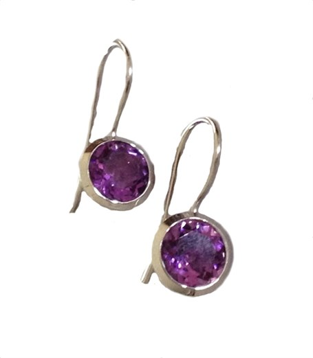 Earrings - Sterling Silver & Amethyst E3183AM