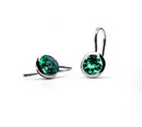 Earrings - Sterling Silver & Green Quartz E3140GQ