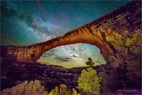 Milky Way Over - Owachomo Bridge Utah - Drop Shipping Available
