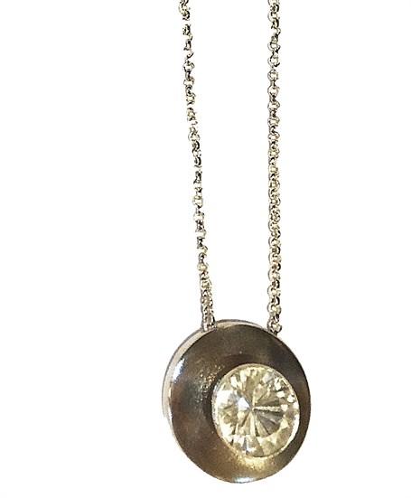 Necklace - Sterling Silver & Caracas Crystal Quartz  Pe-925