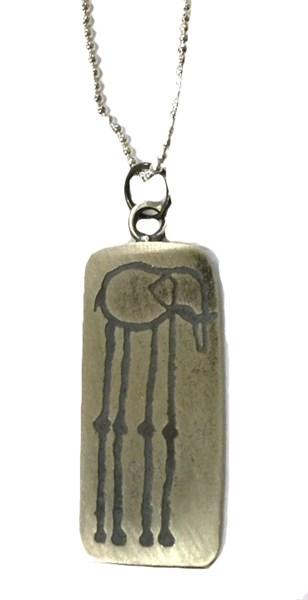 Necklace - Silver Elephant Pendant 10a