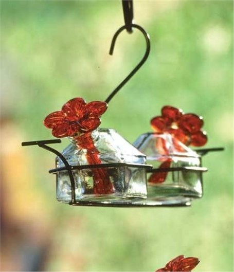 Hummingbird Feeder - Bouquet Classic 2 Feeding Stations assorted