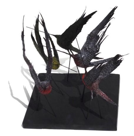 Set of 5 Birds, Wings Up