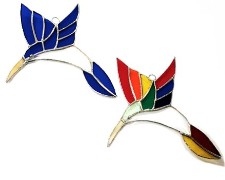 Stained Glass - Large Hummingbird - Assorted