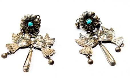 Earrings - Sterling Silver Loving Doves JF5