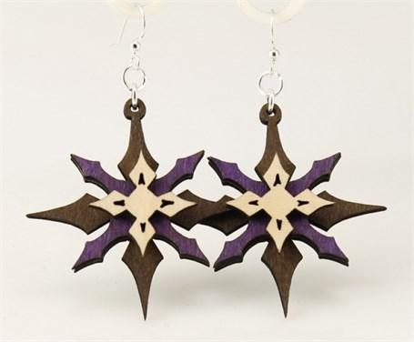 Earrings - Layered Stars  1184