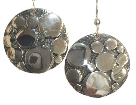 Earrings - Sterling Silver Dots E-913