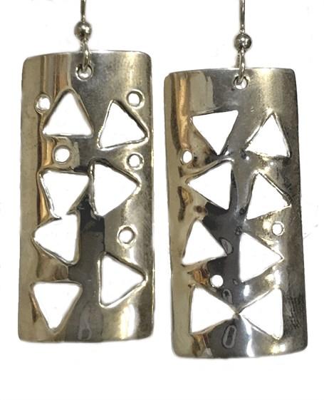 Earrings - Sterling Silver Confetti  E-546