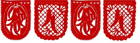 Papel Picado Banner - 13' Red Chilies Banner