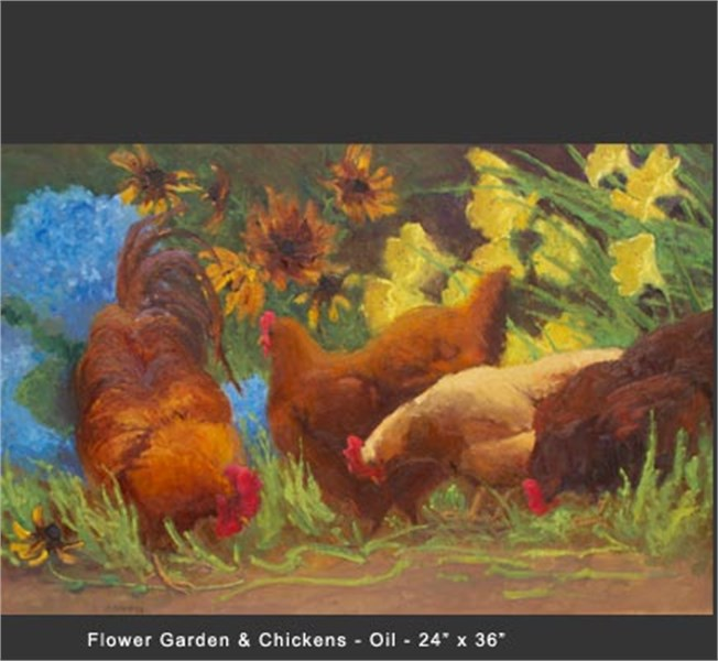 Flower Garden Chickens