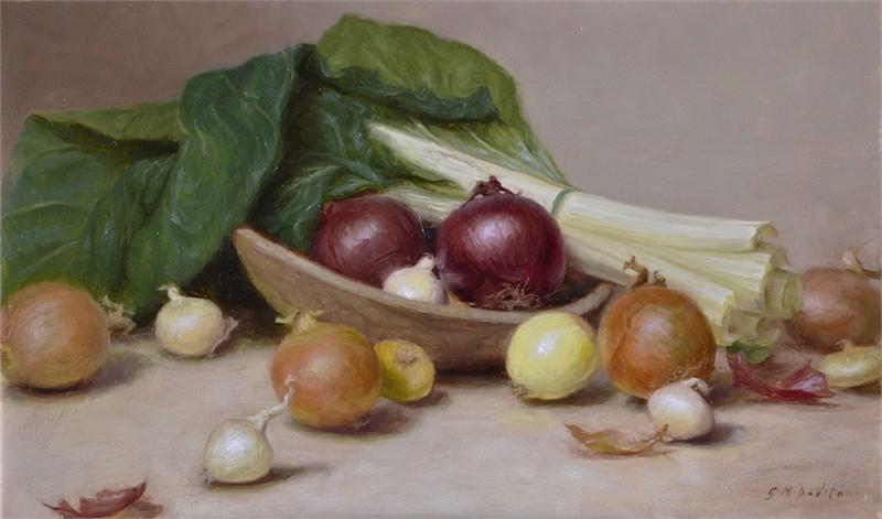 Onions and Swiss Chard