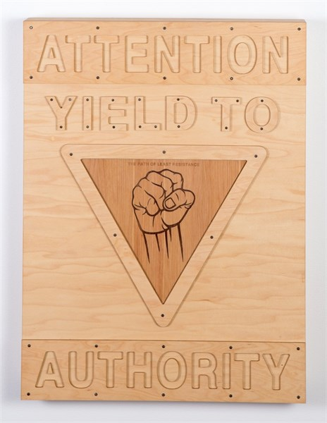 Street Sign: Yield to Authority