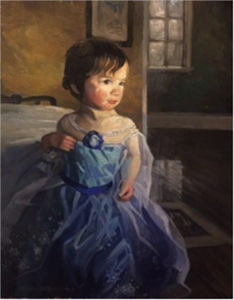 Olivia in the Blue Princess Dress