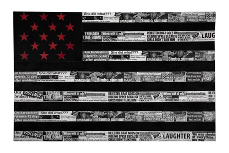 """Stars, Stripes, and Sensationalism"" by Cesar Baez"