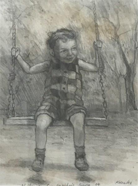 Walker on Grandmother's Swing