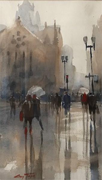 Copley Square in Rain