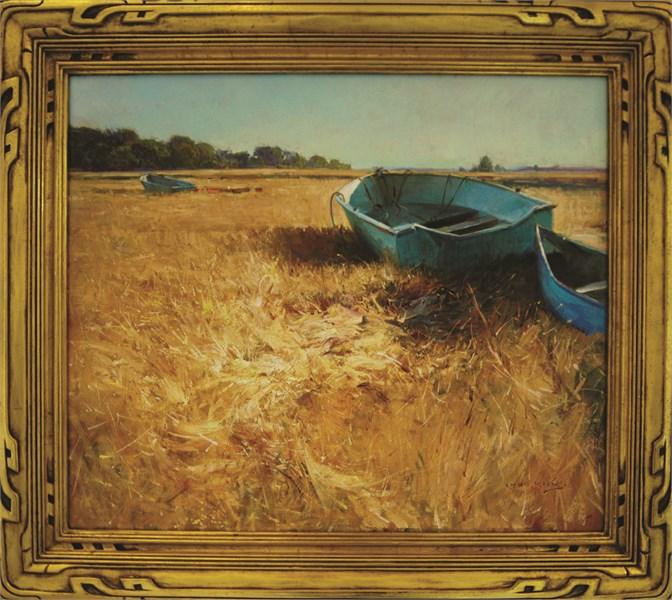 Blue Boat Essex Marsh