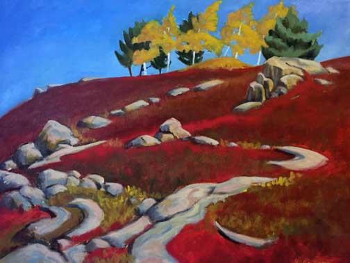 Hillside Poplars