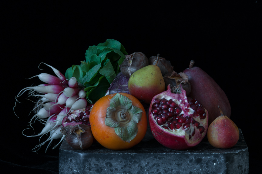 Still Life with Persimmon